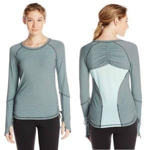 Lucy Tech Dashing Stripe Long Sleeve Running Shirt